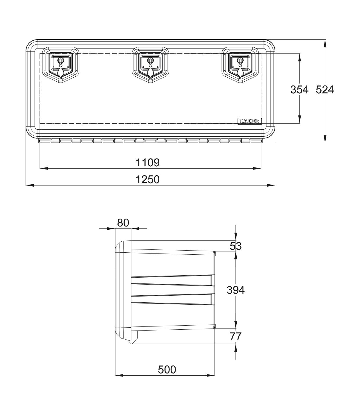 Daken Arka 1250 мм