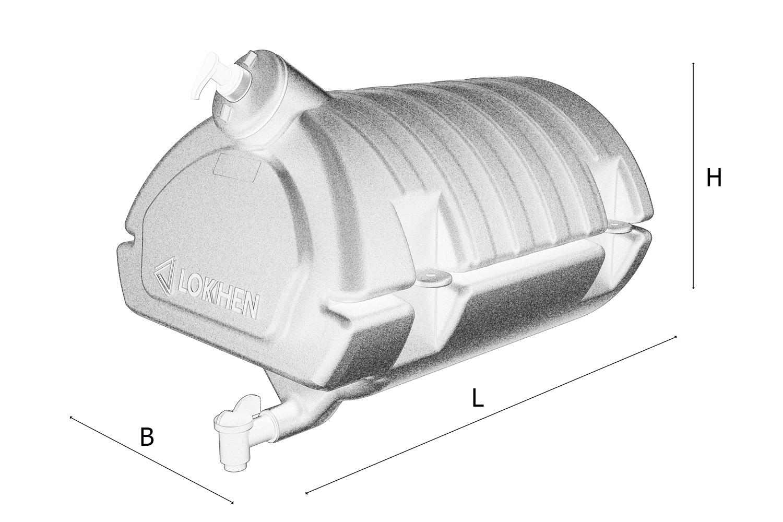 Бак для воды Lokhen автомобильный с дозатором (рукомойник) 30 литров
