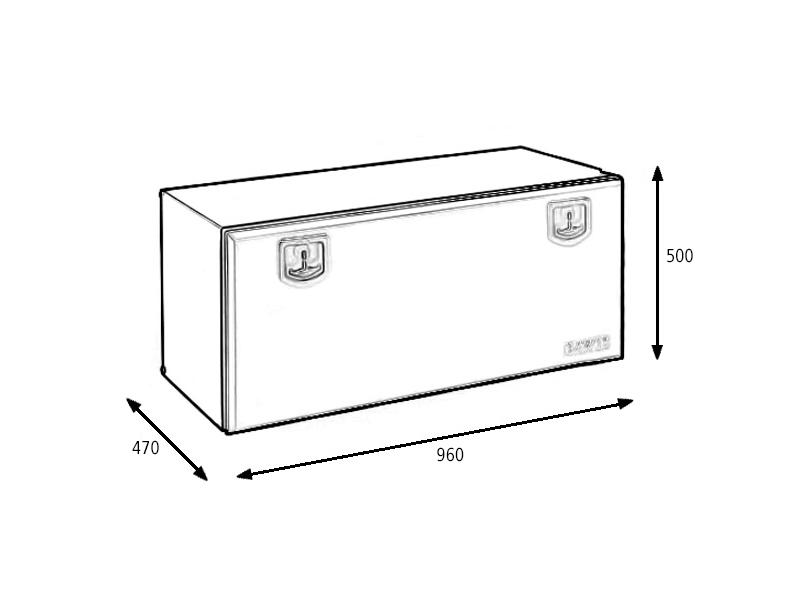 Ящик для инструментов Alta 960мм