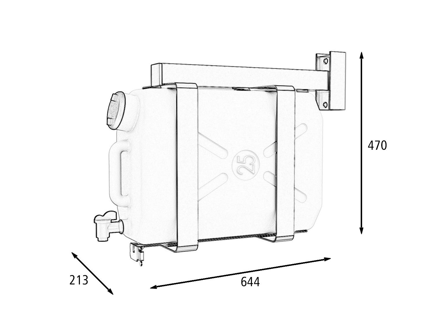 Бак для води Lokhen автомобільний з дозатором (рукомийник) 25 літрів