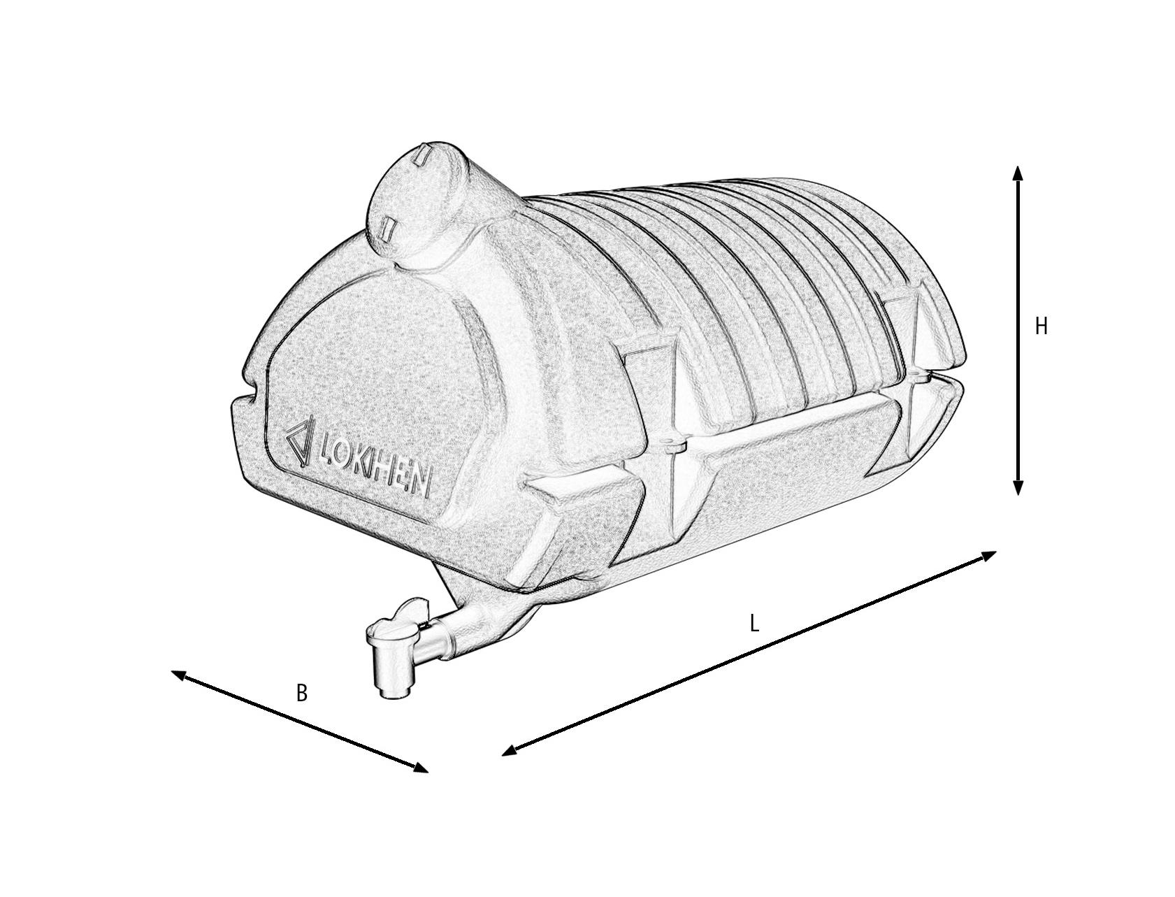 Бак для води Lokhen автомобільний з дозатором (рукомийник) 50 літрів