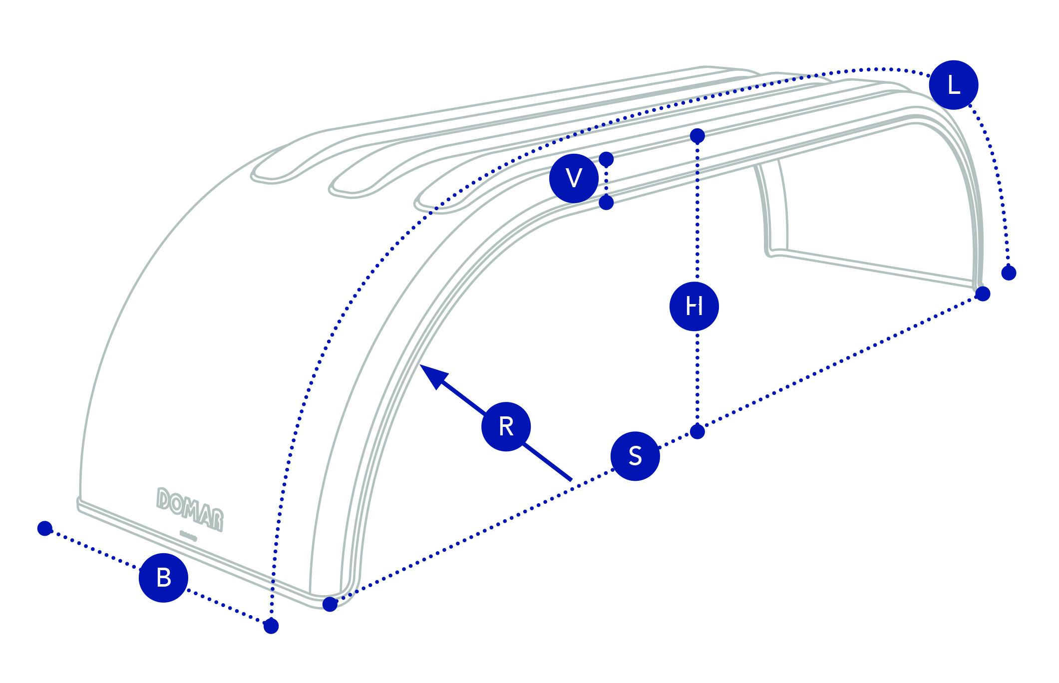 Крыло на прицеп тандем Domar DK4500, B=670 мм (Италия)
